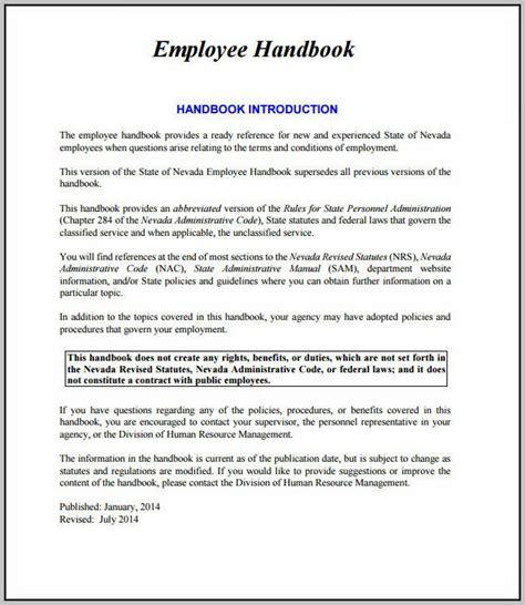 personnel handbook template personnel handbook template images template design ideas