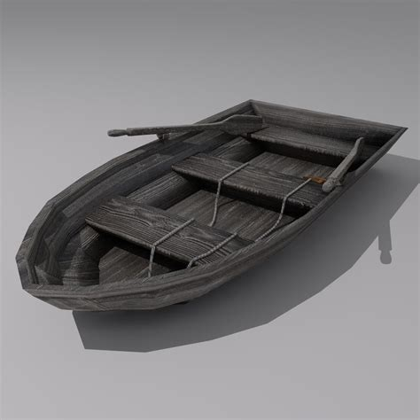 row boat model row boat 3d model