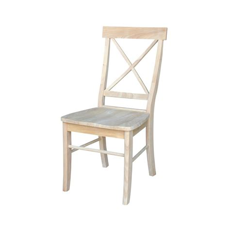 Wood Dining Chairs Unfinished International Concepts Unfinished Wood X Back Dining Chair Set Of 2 C 613p The Home Depot