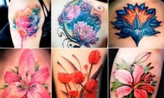 tatuaggio fiori colorato tatuaggio ancora significato e 200 foto beautydea