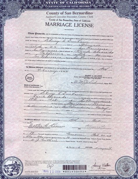 Los Angeles Marriage License Records California Marriage License Application Los Angeles County