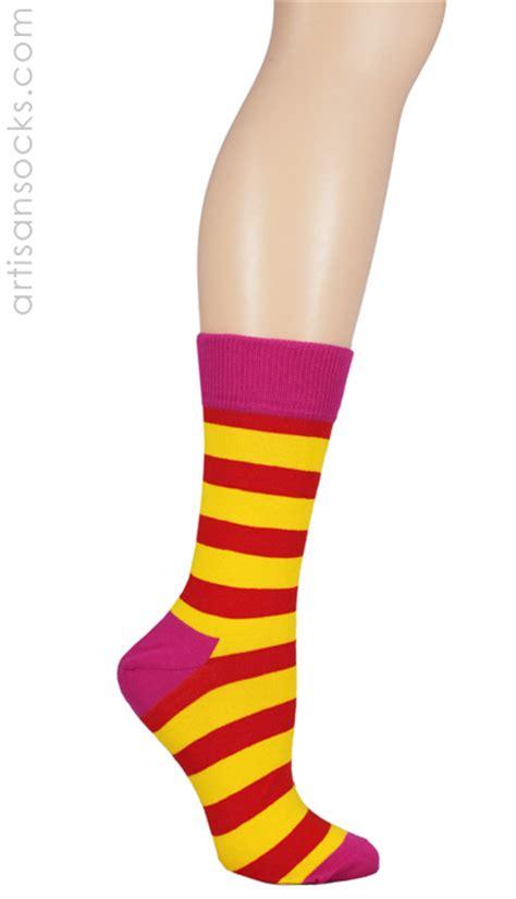 colored socks happy socks pink multi colored striped crew socks