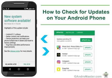 how to update android how to check for updates on your android phone andromaster