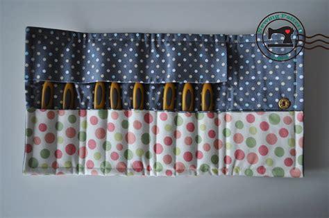 hooks pattern fabric crochet hook organizer case pdf sewing pattern by lypatterns