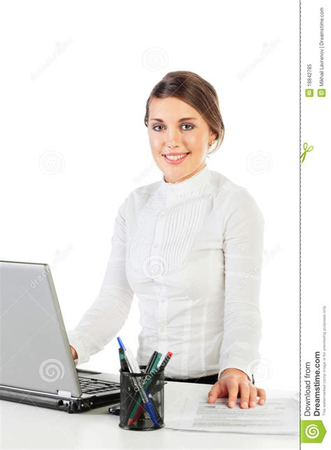 pretty at work royalty free stock photo image