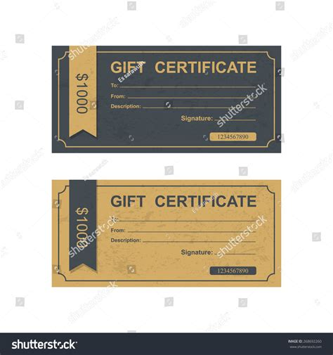 gift certificate coupon template voucher gift certificate coupon template stock vector
