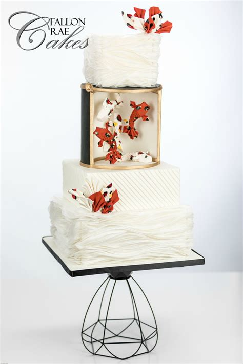 Origami Wedding Cake - koi origami wedding cake cakecentral