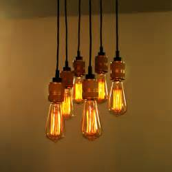Retro Hanging Light Fixtures Retro Edison Bulbs Pendant Lights Vintage Dumb Bronze Hanging L 6 Heads Restaurant Lighting