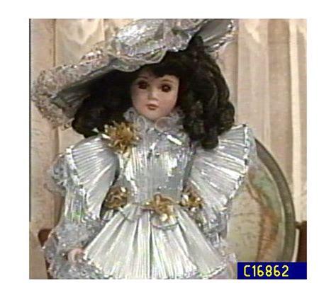 porcelain doll 18 caroline 18 quot porcelain doll by seymour mann qvc