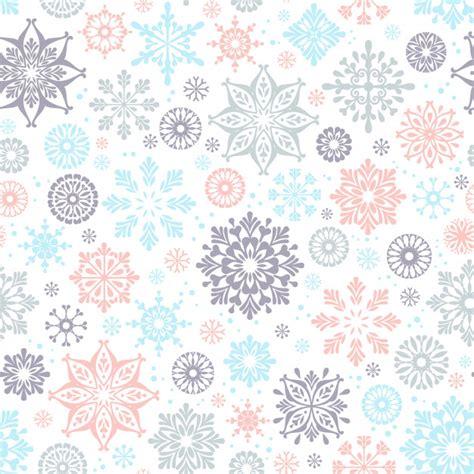 pattern snowflake ai winter seamless pattern with snowflakes vector premium