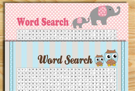 Baby Shower Word by Free Printable Baby Shower Word Search