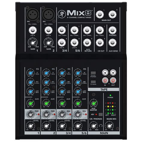 Harga U Channel 75 mackie mix8 compact mixer at gear4music