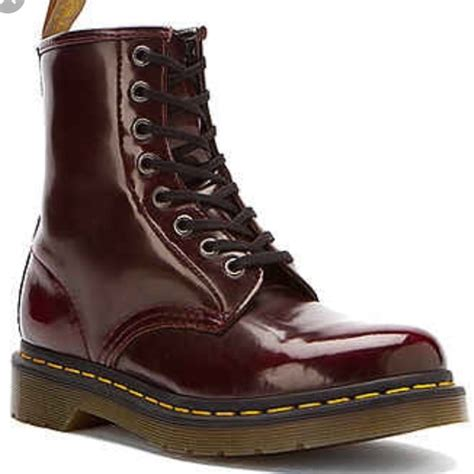 dr martens shoes  martens cherry red vegan leather boots poshmark