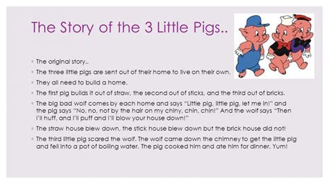 Three Story | the three little pigs story pdf with pictures
