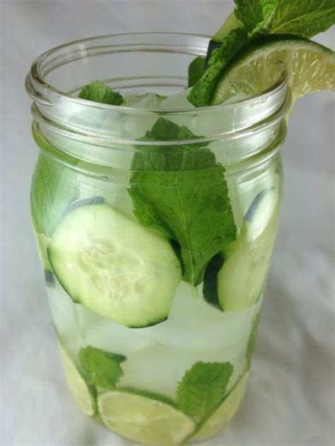 Detox Weight Loss Water Lemon Cucumber Mint Leaves by Refreshing Detox Lime Cucumber Mint Water