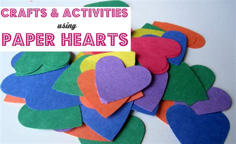 Paper Hearts Crafts - paper hearts crafts activities no time for flash cards
