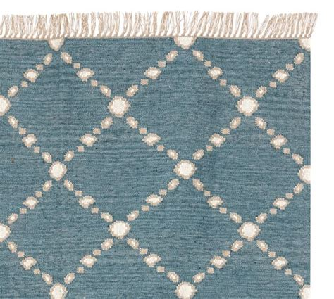Dot N Dash Recycled Yarn Indoor Outdoor Rug Blue Indoor Outdoor Rugs Pottery Barn