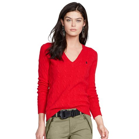 ralph v neck cable knit jumper womens polo ralph cable knit v neck sweater in fall