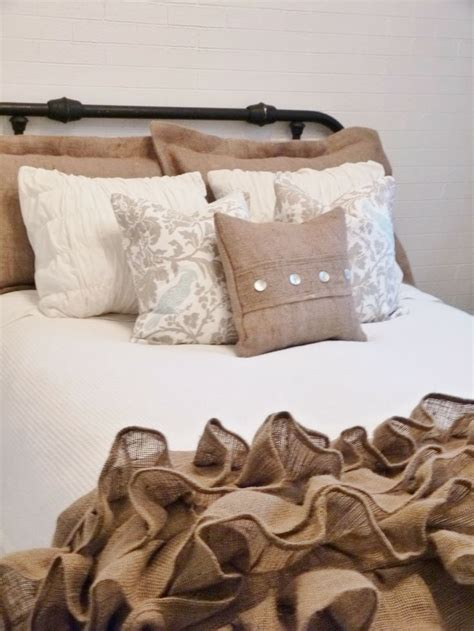 Burlap Bedding Sets Best 25 Burlap Bedding Ideas Only On Burlap Bed Skirts Burlap Bedroom Decor And
