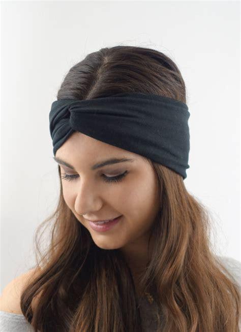 jersey headband pattern black cotton jersey turban twist headband high quality