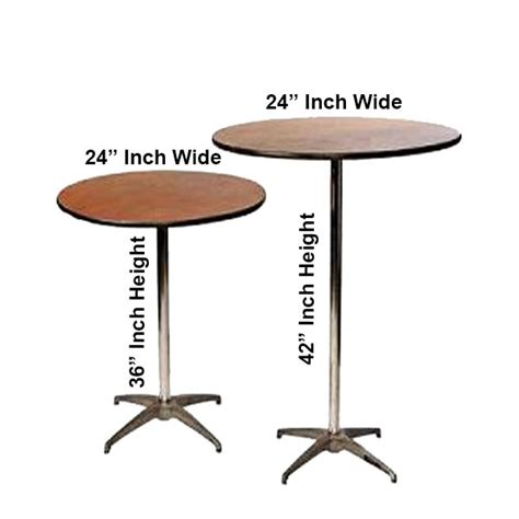24 inch table 24 inch high top pedestal table rental in miami