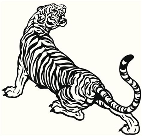 black and white tiger tattoo black and white designs