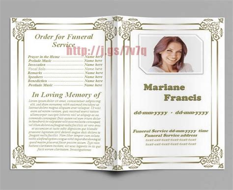 79 Best Images About Funeral Program Templates For Ms Word To Download On Pinterest Program Memorial Service Templates Sles