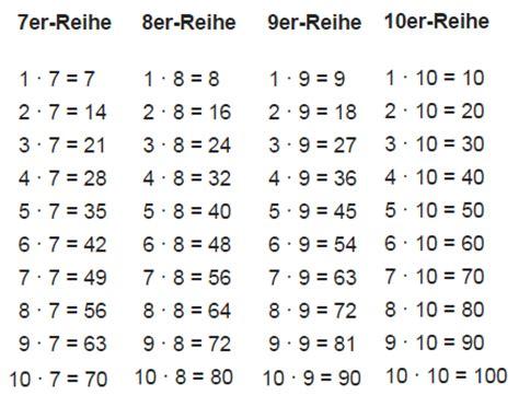 1 mal 1 tabelle einmaleins lernen und 252 ben kostenlos