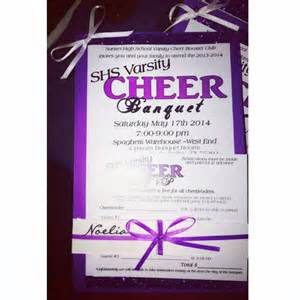 cheer banquet invitation and rsvp svc banquet