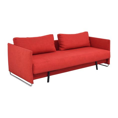 cb2 loveseat 74 off cb2 cb2 tandom red sleeper sofa sofas