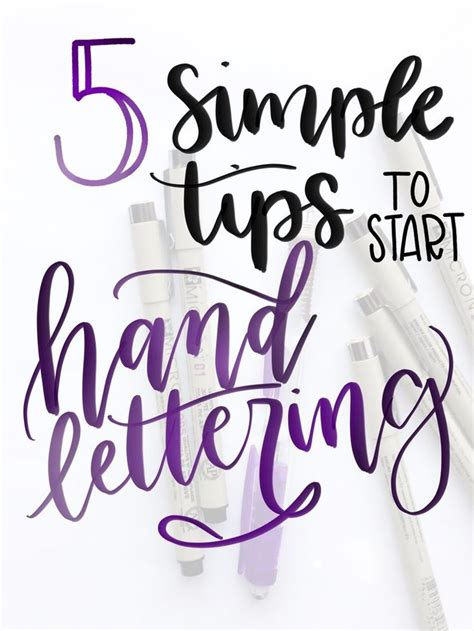 Practical Tips On How To Start by 25 B 228 Sta Lettering For Beginners Id 233 Erna P 229