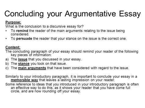 How To End A Persuasive Essay by Conclusion Of Essay