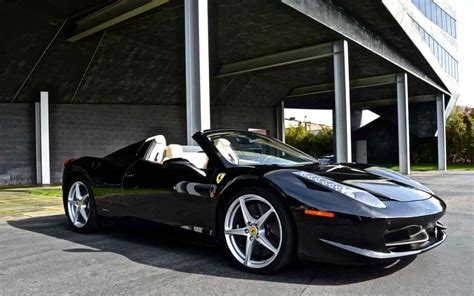 458 Italia Black Convertible Rental