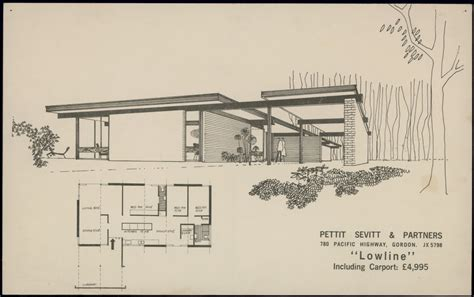 Home Architect Plans Modern House Pettit Sevitt Lowline B By Ken Woolley