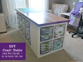 Diy Craft Desk With Storage De Jong House Diy Craft Table