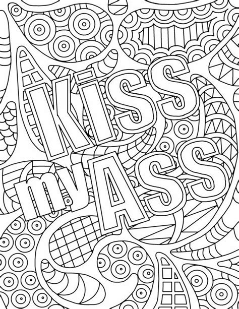 coloring pages for adults curse words 25 best ideas about word doodles on writing