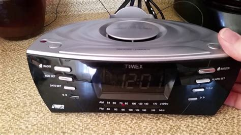 timex sound chamber radio alarm clock am fm mp3 line in with dock