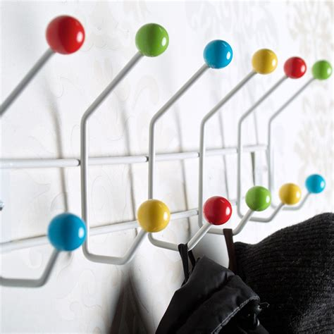 colorful wall hooks coat hanger colour ball coat hooks towel rack wall mounted