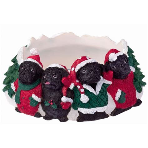 pug candles pug candle topper ring black ebay