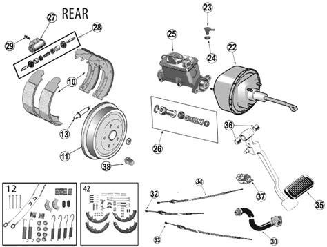 95 Jeep Wrangler Parts Jeep Wrangler Yj Rear Brake Parts 87 95 Quadratec