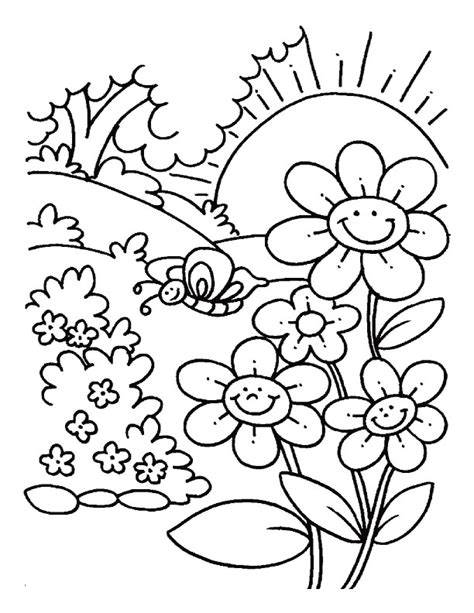 Spring Flower Coloring Pages Flower Coloring Page Springtime Coloring Pages