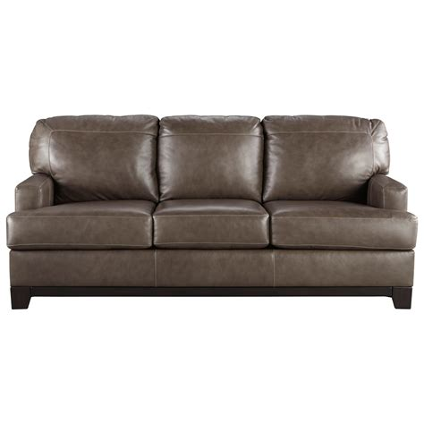 contemporary leather match sofa by signature design by