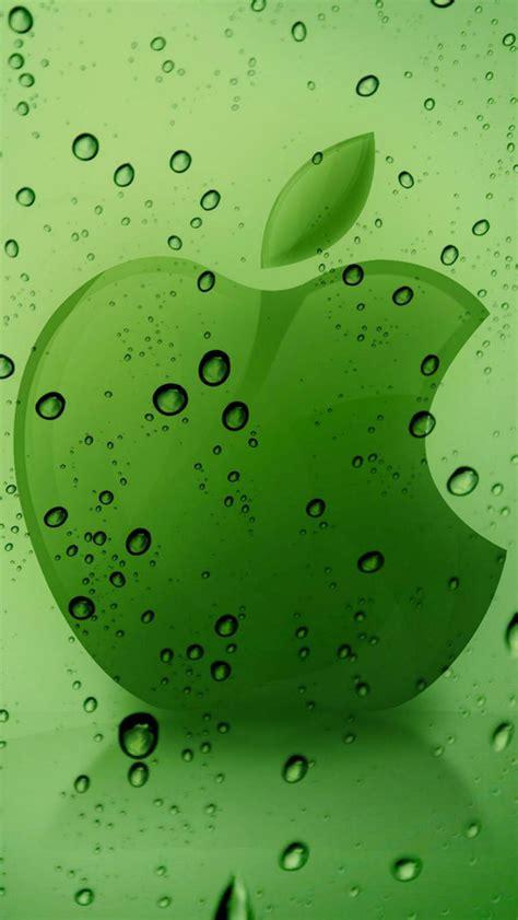 green apple logo wallpaper  iphone