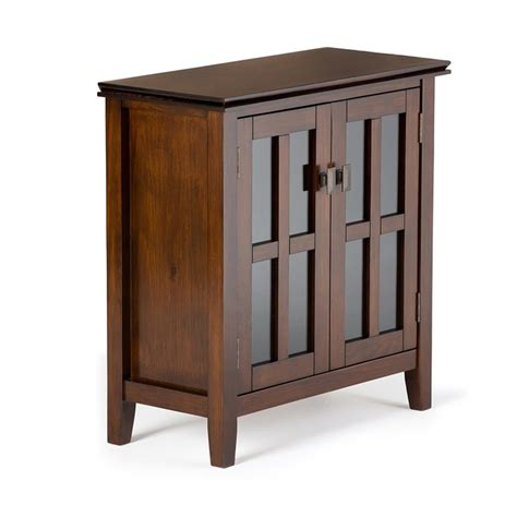 Low Storage Cabinet Low Storage Cabinet In Medium Auburn Brown Axchol015