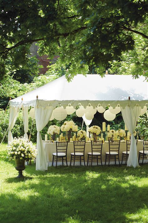 Back At The Tents by Classic White Wedding Ideas Marquee Decoration Details