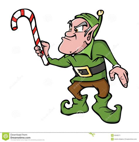 angry animated elf clipart