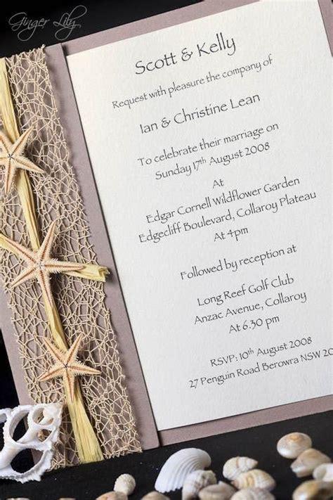 diy wedding invitation kit invitaci 243 n de boda de playa kit diy starfish