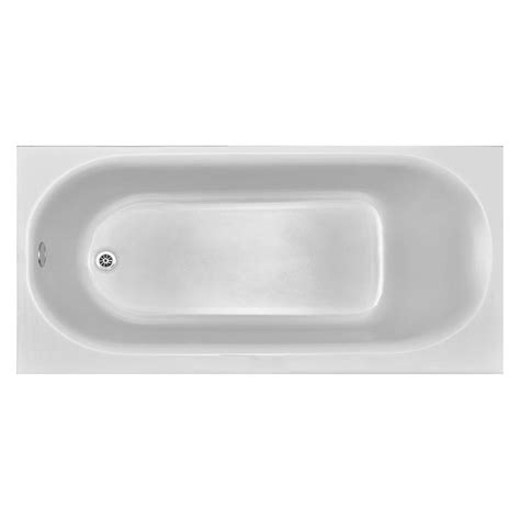 enameled steel bathtubs shop american standard princeton 60 in white porcelain