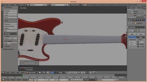 youtube tutorial blender blender tutorial guitar youtube