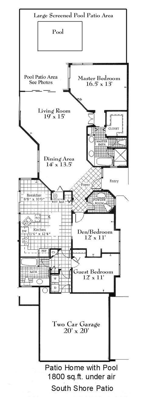 patio homes floor plans patio homes house plans house plans